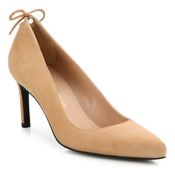 STUART WEITZMAN peekamid suede point toe pumps - EXCLUSIVELY AT SAKS FIFTH AVENUE. Sumptuous suede point-toe...