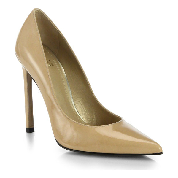 STUART WEITZMAN Queen patent leather pumps - Beautifully crafted in a sleek silhouette with a point toe...