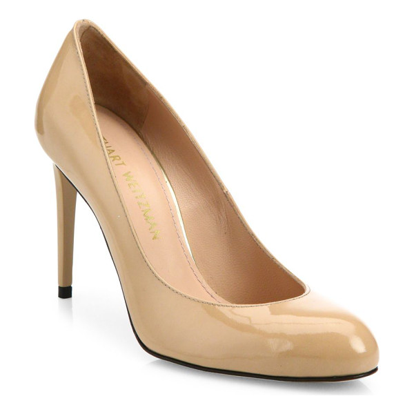 STUART WEITZMAN tune patent leather pumps - Classic patent leather pump with low-cut topline....