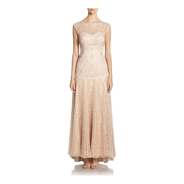 SUE WONG soutache embroidered gown - Signature soutache embroidery elevates this richly detailed...