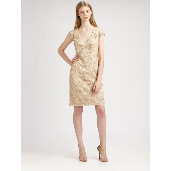SUE WONG Soutache embroidery dress - Luxe, intricate soutache embroidery, enhanced with delicate...