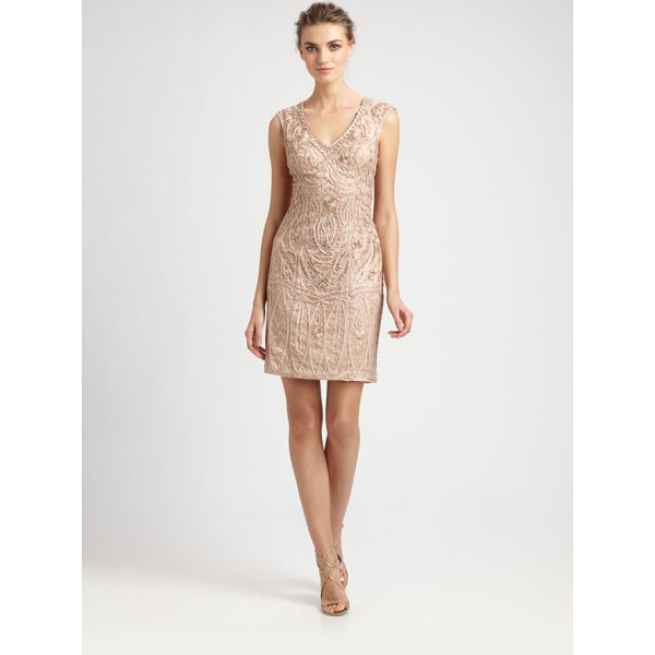 SUE WONG Soutache embroidery dress - This intricately embellished design features gorgeous...