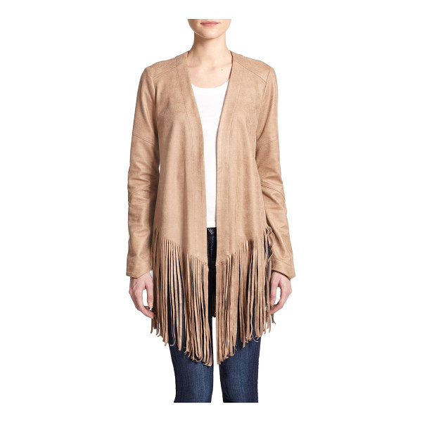 SW3 faux-leather open-front fringe jacket - Thick-cut fringe pays tribute to classic Americana in this...