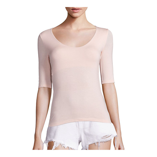 T BY ALEXANDER WANG solid back cutout tee - Back cutout detail adds a stylish edge to this tee. Deep...