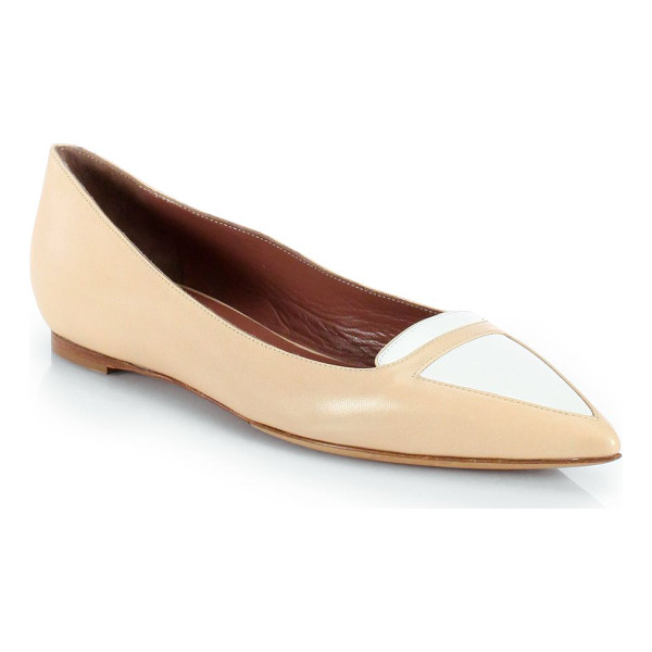 TABITHA SIMMONS Alexa bicolor patent leather ballet flats - An elegant point toe updates this casual two-tone...