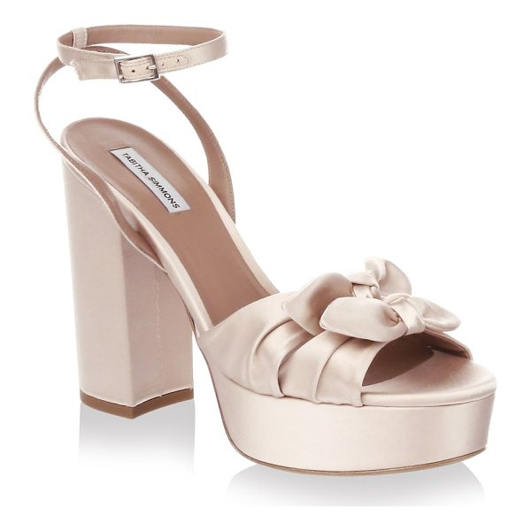 TABITHA SIMMONS knot satin platform sandals - Double knot detailing uplifts these satin platform sandals....