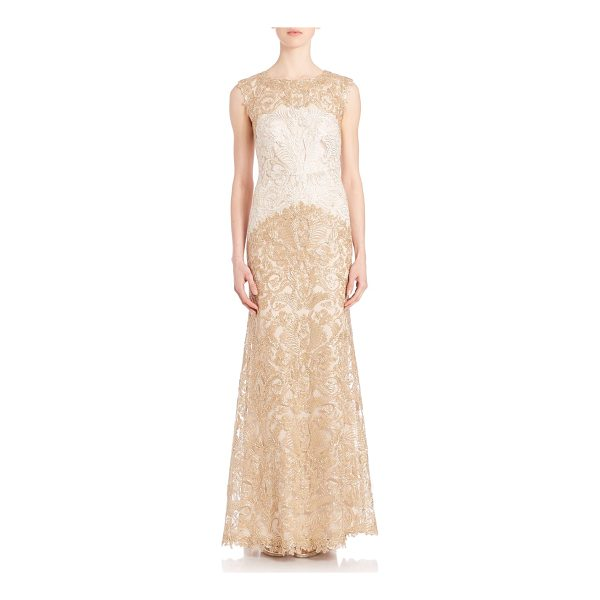 TADASHI SHOJI embroidered lace gown - Embroidered gown with charming lace details. Bateau...