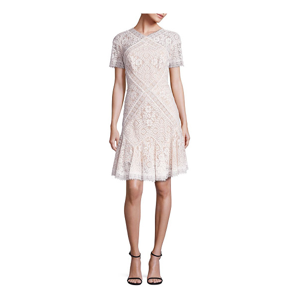 TADASHI SHOJI patchwork lace dress - Whimsical lace patchworks adorn this lovely...