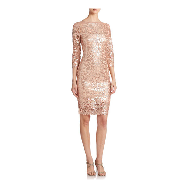 TADASHI SHOJI Sequined lace dress - Gleaming sequined embroidery adds a touch of glamour to...