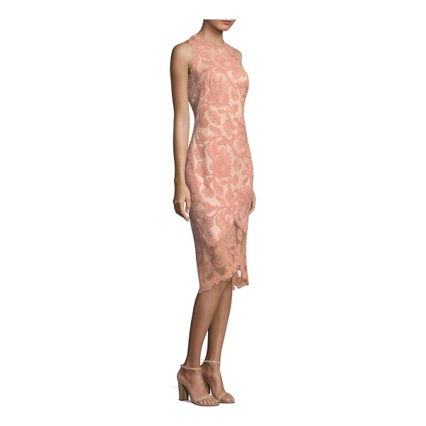 TADASHI SHOJI lace hi-lo dress - Knee-length dress with lace overay. Crewneck. Sleeveless....