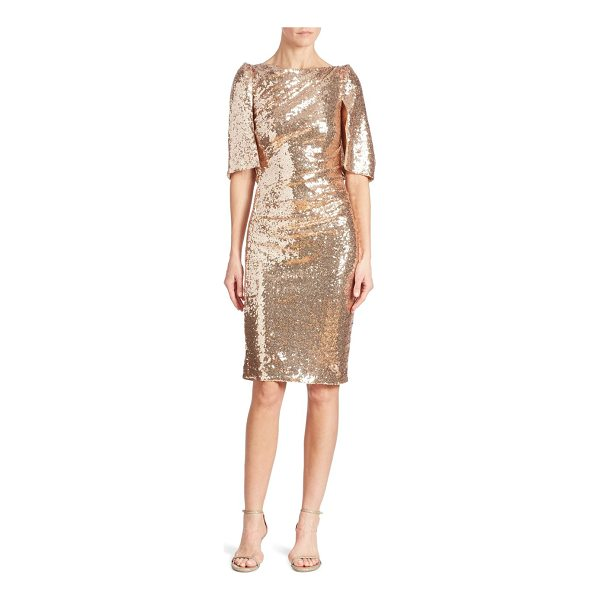 TALBOT RUNHOF sequin cape dress - Glamorous sequin embellished dress in a cape design....