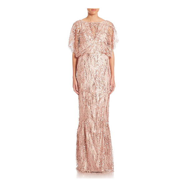 TALBOT RUNHOF sequin lace gown - EXCLUSIVELY AT SAKS FIFTH AVENUE. Vintage-inspired gown of...
