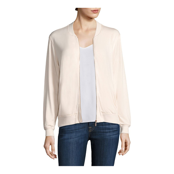 TART hollice zip-up jacket - Plush jacket renders a graceful sporty appeal. Baseball...