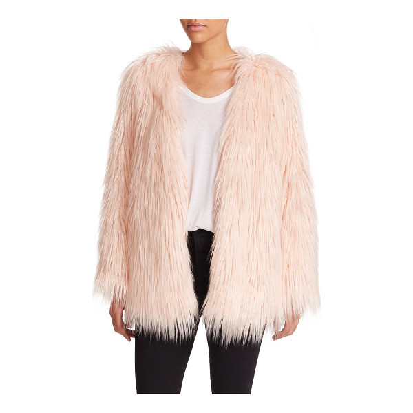 TART rella faux fur coat - Shaggy faux fur defines a retro-inspired coat. Collarless....