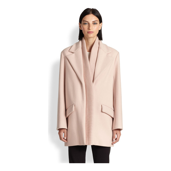 THAKOON Ribbed-detail wool coat - Crafted from luxurious Italian wool, this structural topper...
