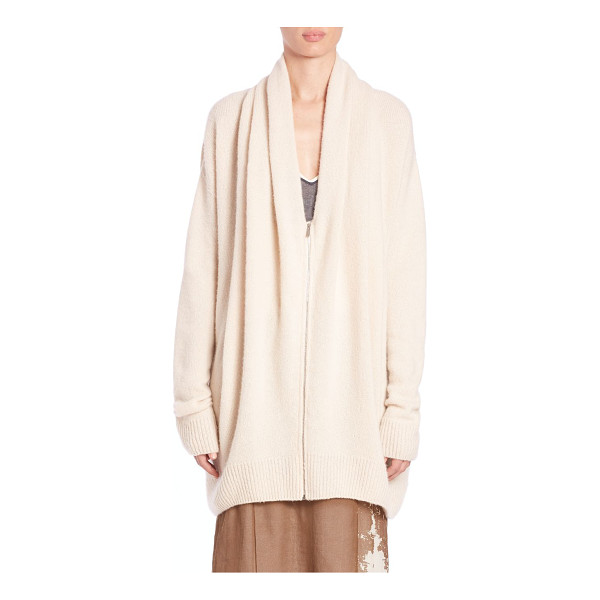 THE ROW Cashmere & silk mater top - Oversized zip-up knit in soft cashmere and...