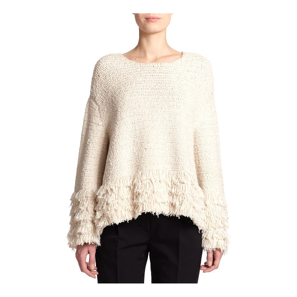 THE ROW Laina fringed bouclé sweater - Fringed trim enhances the plush look and feel of this...