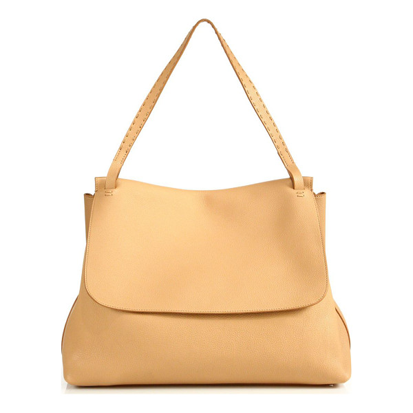THE ROW leather top handle 14 bag - Relaxed luxury, with a generous silhouette. Top handle, 10""