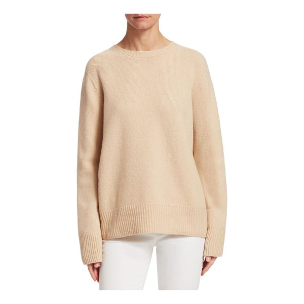 THE ROW sibel pullover sweater - Cozy wool blend sweater accented with ribbed trim....
