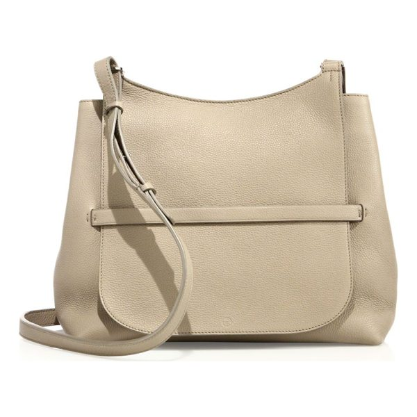 THE ROW sideby pebbled leather crossbody bag - Pebbled leather hobo silhouette with tucked flap....