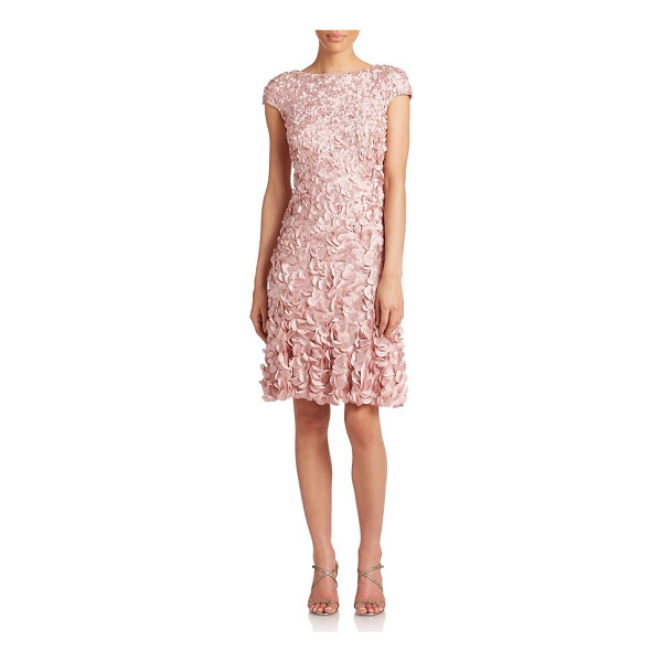 THEIA beaded petal dress - A flourish of eye-catching petals, each secured by a single...