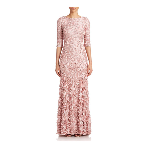 THEIA Beaded petal gown - A flourish of eye-catching petals, each secured by a single...