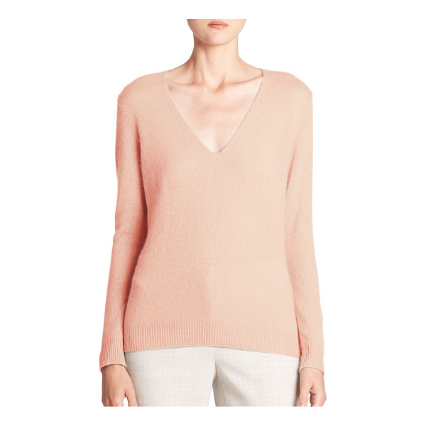 THEORY adrianna cashmere v-neck sweater - Luxe cashmere sweater in a relaxed silhouette. Deep V-neck....