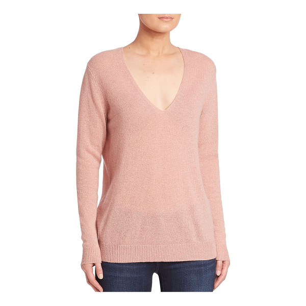 THEORY adrianna cashmere v-neck sweater - Luxe cashmere sweater with deep v-neck. Deep v-neck. Long...