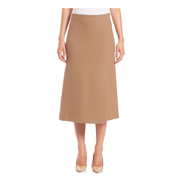 THEORY Anneal a-line midi skirt - A-line midi in subtle wrap silhouetteSelf waistA-line, wrap...