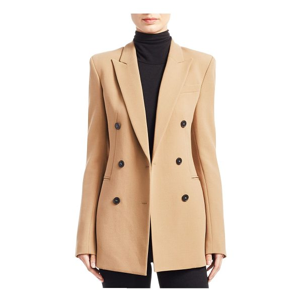 THEORY power buttoned jacket - Featuring jacket with minimalistic elegant design. Peak...