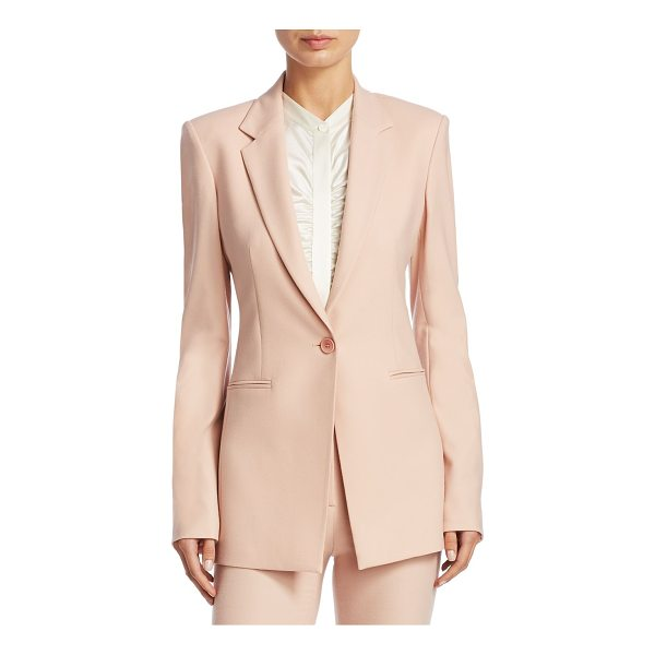 THEORY power wool jacket - Tailored wool jacket in button-front style. Notch lapels....