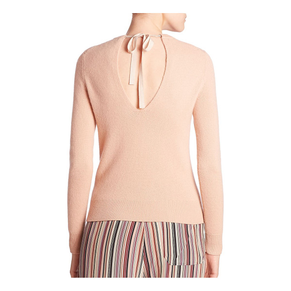 THEORY salomina cashmere top - Sleek cashmere top with tie back closure. Crewneck. Long...