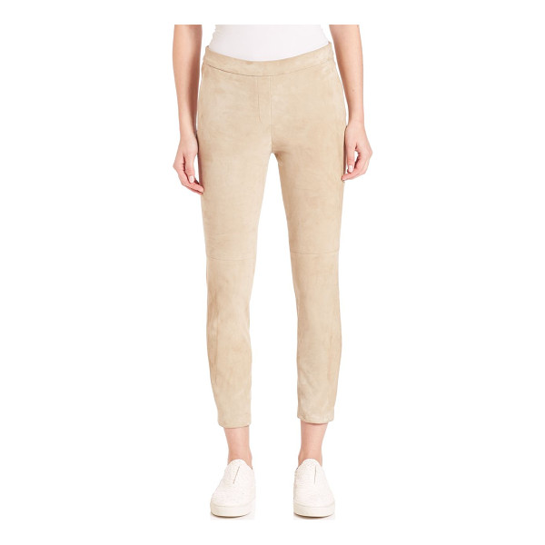 THEORY thaniel leather pants - Classic trousers in supple leather. Belt loops. Zip fly...