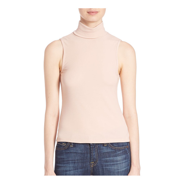 THEORY wendel turtleneck jersey tank - Simply chic, this wardrobe essential seamlessly transitions...