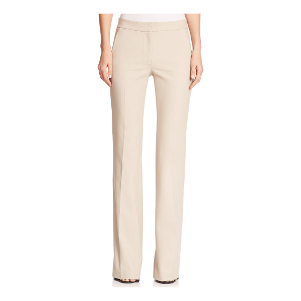 TIBI anson wide-leg stretch trousers - A polished, leg-lengthening wide-leg pair with a rouch of...
