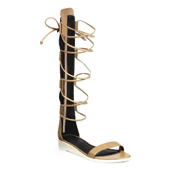 TIBI Beacher knee-high lace-up leather sandals - Tibi takes its signature modern approach to chic knee-high...