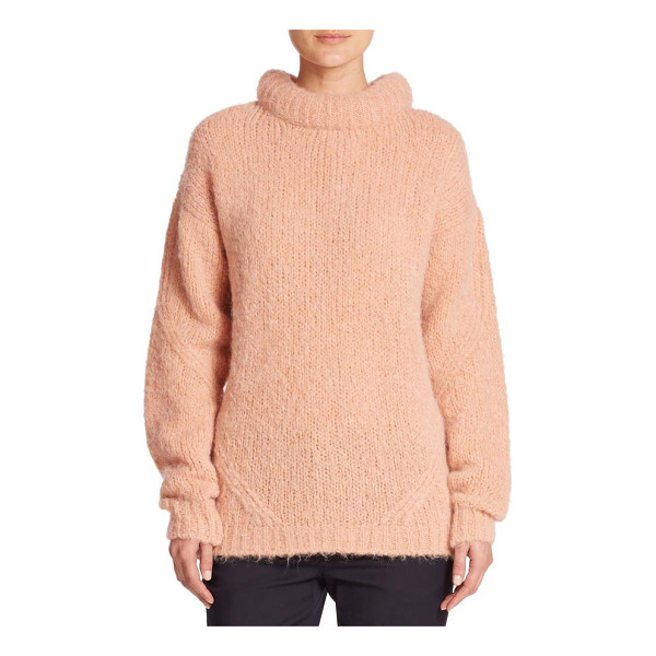 TIBI Roll-neck pullover sweater - A rich alpaca-merino wool blend and an oversized silhouette...