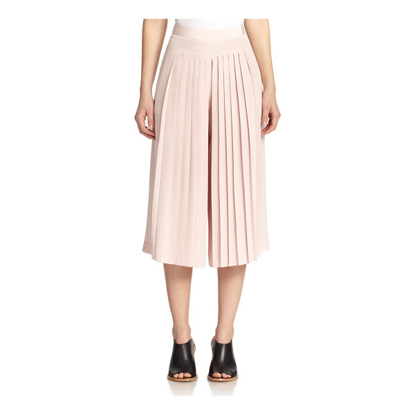 TIBI Simone silk pleated culottes - Cut from soft-washed silk, these front pleated culottes...