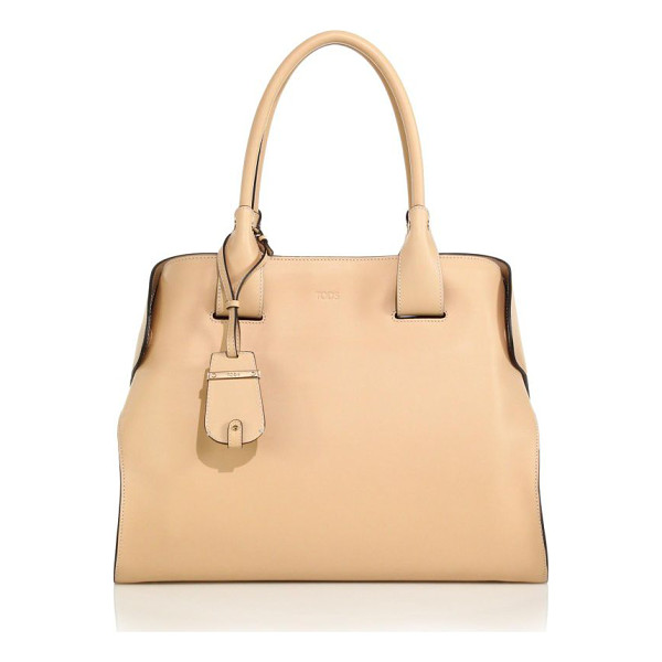 TOD'S Cape medium satchel - Sleekly structured in smooth, buttery leather, this...