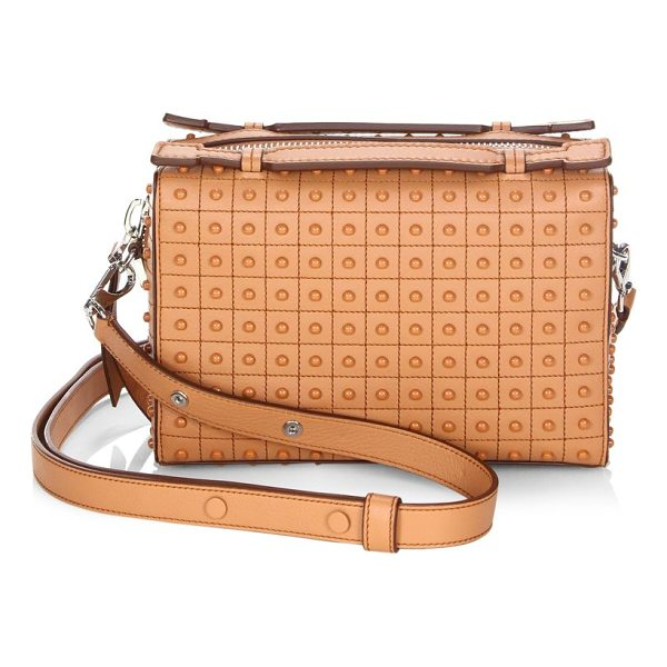 TOD'S gomino leather satchel - Leather satchel with embossed details throughout. Top...