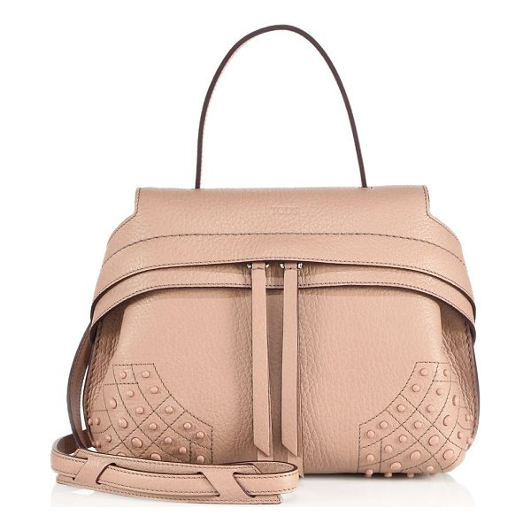 TOD'S wave mini gommini leather satchel - Sleek silhouette with snap sides and signature pebble...