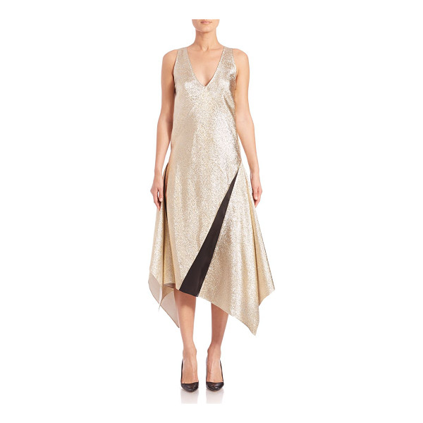 TOME Lamé handkerchief dress - Luminous lamé fabric fashions handkerchief...