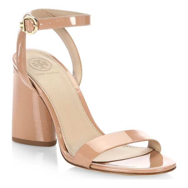 TORY BURCH elizabeth leather ankle-strap sandals - On-trend leather sandals with a smooth finish. Block heel,...