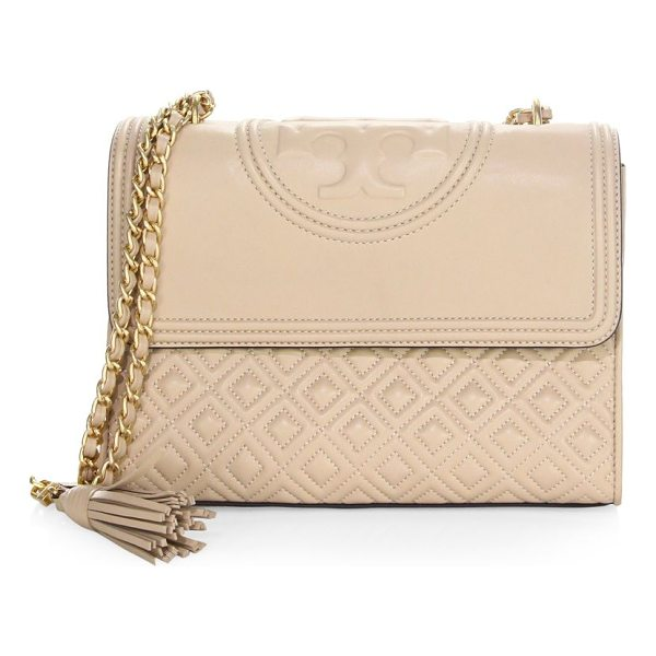 TORY BURCH fleming convertible shoulder bag - Quilted leather shoulder bag with polished hardware....