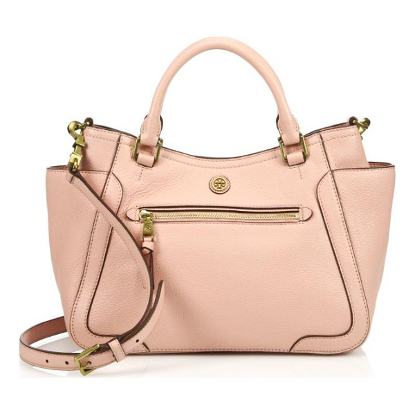 TORY BURCH Frances small satchel - Beautifully crafted from pebbled leather, this structured...