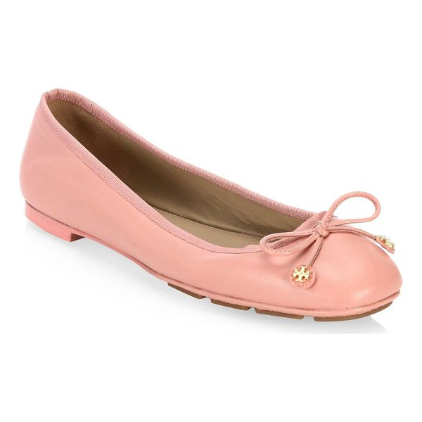 TORY BURCH laila leather ballet flats - Simple yet elegant ballet flats in smooth leather. Ovine...