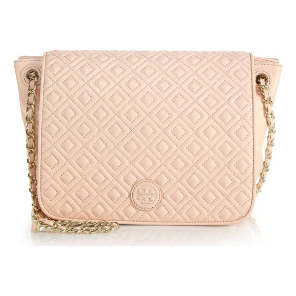 TORY BURCH Marion quilted leather satchel - Quilting and a chain strap elevate this satchelAdjustable...
