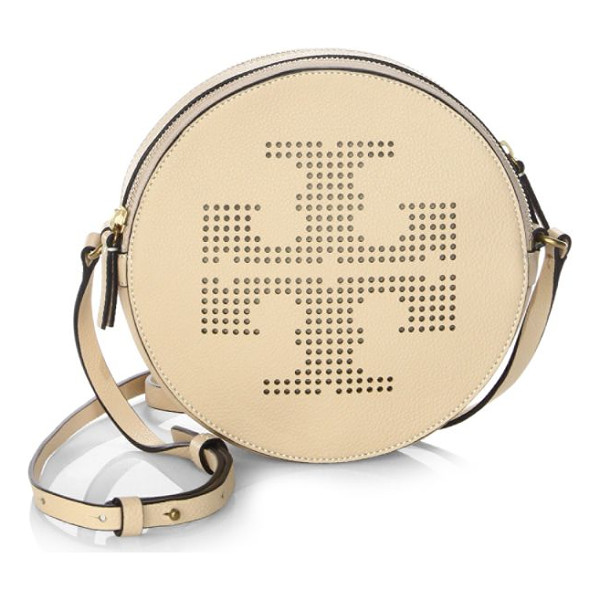 TORY BURCH perforated logo crossbody bag - Circular crossbody bag with a perforated logo front....