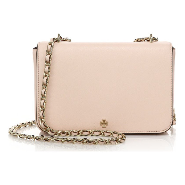 TORY BURCH Robinson adjustable shoulder bag - Sleek shoulder bag with luxe woven chain strapWoven chain...