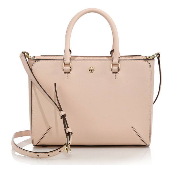 TORY BURCH Robinson small zip tote - Structured mini tote epitomizes timeless styleDual top...